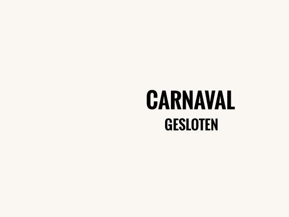 Carnaval gesloten